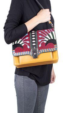 "#PaulaCademartori ""Caroline"" lizard and leather bag - discover this beauty here -> http://www.bagheeraboutique.com/en-US/designer/paula_cademartori"