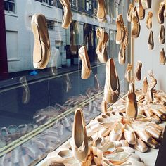 """Photo of Bloch - """"Raining pointe shoe display at Bloch London Store. Pointe Shoes, Ballet Shoes, Dance Shoes, Ballet Class, Ballet Dancers, Amazing Dance Photography, London Rain, Dance Crafts, Shoe Display"""