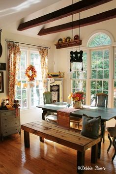 Country Rustic Fall Decorating With Fls And Texture
