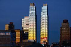#Sunset on #skyscrapers in #NewYork #NYC #Manhattan #USA by © Julien Blavette