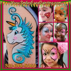Face painting and balloon twisting in Orlando FL  321-695-5060 www.SmilesFace Painting.com