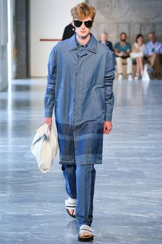 Menswear trend: Faded denim. Seen here at Andrea Pompilio.