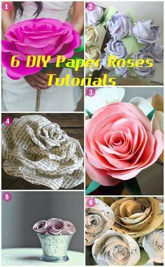 6 DIY Paper Roses Tutorials