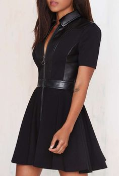 Live Fast Fit-and-Flare Dress