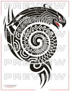 aztec tribal eagle tattoo design