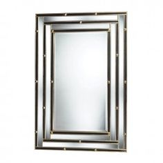 Montanna Mirror In Black And Gold