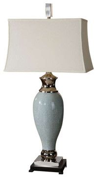 Uttermost Rossa Light Blue Table Lamp - contemporary - Table Lamps - Chic Art and Accents