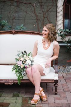 A Casual Chic Anthropologie Inspired Look for a Spring Bridal Shower | Tonie Christine Photography | See More! http://heyweddinglady.com/vintage-spring-anthropologie-inspired-bridal-shower/