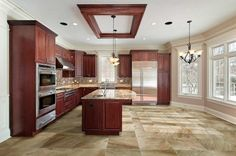 Manhattan Porcelain Tile This Is The Cafe Color And Goes Great With Dark Wood Cabinets Stainless Steel Liances