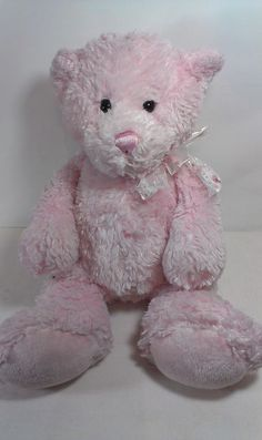 JUMBO Ganz HV9364 Pink Teddy Bear Sweetie Pie Stuffed Animal Beanie Plush RARE ! #GANZ