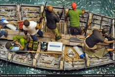 """""""Pirates of the Somali Sea"""" 1/35 scale. By Stefan Beck. #diorama"""