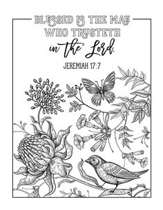 FREE PRINTABLE Christian coloring sheets with Bible verses. A new coloring sheet is posted every Friday. A great stress reliever and they look so pretty framed, from Unicorn Coloring Pages, Printable Adult Coloring Pages, Disney Coloring Pages, Coloring Book Pages, Coloring Sheets, Esther Bible Study, Exodus Bible, Bible Verse Coloring Page, Bibel Journal