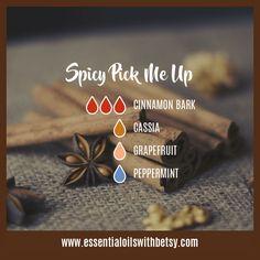 Spicy Pick Me Up Fall Diffuser Blends Cinnamon, Cassia, Grapefruit, Peppermint