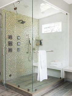 Looking for a more economical use of space in a cramped bathroom or for a stand-alone shower in a master bathroom with a separate tub? A corner shower makes the most of unused nooks. Learn some buying basics with our guide to the four most important features of corner showers.
