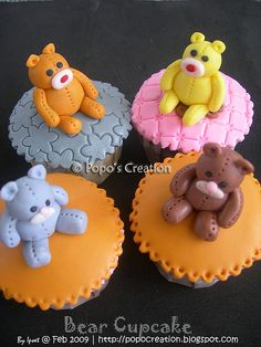 teddy bear cupcakes ;]