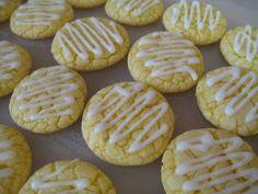 Easy lemon cookies made with lemon cake mix