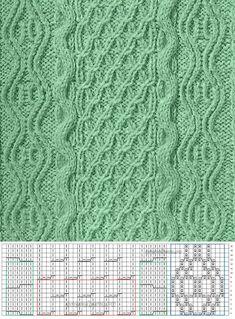 Узор 651 | каталог вязаных спицами узоров