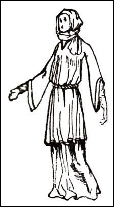 1066-1087:  Costume Drawing - A WOMAN OF THE TIME OF WILLIAM I