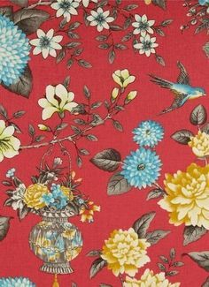 asian floral fabric - Google Search