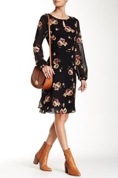 Long Sleeve Midi Length Dress