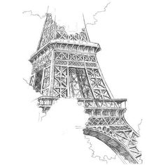 art, black &, white, drawing, drawings - image #725575 on Favim.com ❤ liked on Polyvore featuring home, home decor, wall art, sketch drawing, vintage drawing, black white home decor, black and white wall art and paris eiffel tower drawing