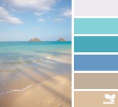 Coastal color scheme idea / Beach color palette #beach #coastal