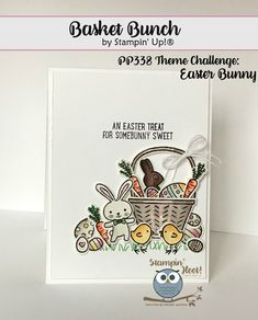 Basket Bunch Bundle From Stampin' Up!, Handmade Cards, Easter, Bunny, Carrots, Eggs, Baskets, Stampin' Hoot! Stesha Bloodhart