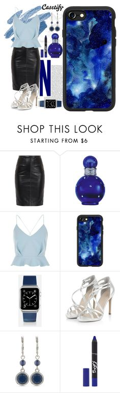 """Night Owl 🌝"" by casetify ❤ liked on Polyvore featuring Britney Spears, River Island, Casetify, Nine West and Rimmel"