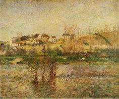 Flood+in+Pontoise,+1882+-+Camille+Pissarro