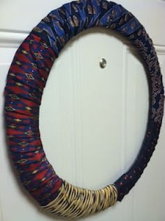 DIY silk neck-tie wreath