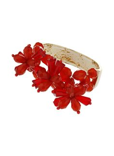 Red Beaded Flower Bracelet - Fashion Jewellery - Accessories - Dorothy Perkins Europe