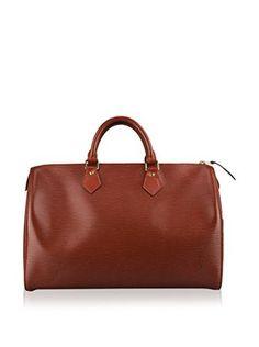 Portero Louis Vuitton Women's Speedy Top Handle Bag, Red