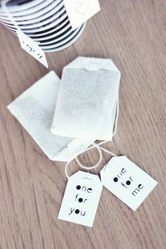 je eigen thee labels #tea #breakfast #goodmornig @itsmartteam