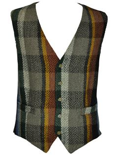 Your place to buy and sell all things handmade Tweed Vest, Tweed Run, Fashion Details, Men's Fashion, Gentleman's Wardrobe, Waist Coat, Plaid Design, Well Dressed, Dapper