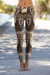 Cobra Snake Skin - Printed Performance Leggings