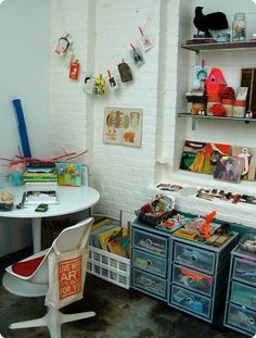 Artist Lisa Congdon's studio.