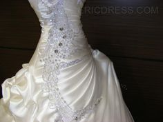 Exquisite Ball Gown Sweetheart Ruffles Beading Wedding Dress 7