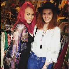 Samantha looks stunning in her shawl and Giulia looks so cute in her hat, both scored at the shop!