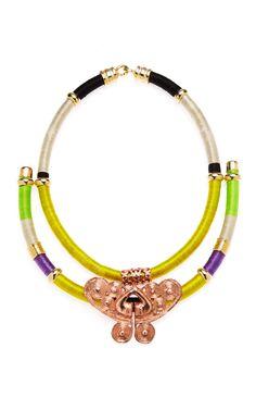 Shop LOOL Gold Charm Bib Strand Necklace at Moda Operandi