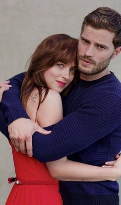 New/Old Photo of Dakota Johnson & Jamie Dornan from Fifty Shades Promo :: Full body shot of one of my favorites!