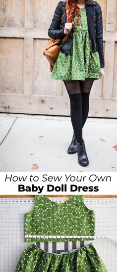 Comment faire une robe Baby Doll - A Beautiful Mess Robe Baby Doll, Baby Doll Style Dress, Vestido Baby Doll, Baby Doll Clothes, Sewing Clothes, Diy Clothes, Baby Dolls, Robe Diy, Costura Diy