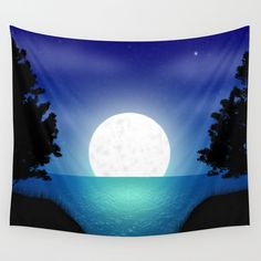 Free shipping on everything with code SUMMERFS ends tonight at midnight PT! Fantasy night landscape Wall Tapestry by graffitimi. Worldwide shipping available at Society6.com.   #freeshipping #society6 #fantasy #walltapestry #tapestry #moon #moonlight #beauty #beautiful #silhouette #forest #sea #ocean #lake #water #home #homedecor #homedecorideas #homedesign #homedecoration #decoration #design #illustration #digitalart #digitalmarketing #spa #wellness