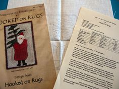 Punchneedle Embroidery by Hooked On Rugs #5 - St. Nick 2005 Pattern Printed on Fabric by SanctuaryofStyle on Etsy