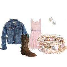 Pearly Pink, created by hannahspeights Diva Fashion, I Love Fashion, Fashion Beauty, Gypsy Style, Boho Gypsy, Girl Style, My Style, Girl Boots, Cow Girl
