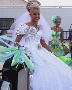 thelma madine dresses - Google Search Gypsy Wedding Gowns, My Big Fat Gypsy Wedding, Gipsy Wedding, Beautiful Wedding Gowns, Beautiful Dresses, Wedding Dresses, Beautiful Dream, Gypsy Dresses, Flower Girl Dresses