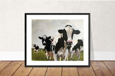 Cow Painting, Cow Art, Cow PRINT - Cow Oil Painting, Holstein Cow, Farm Animal Art, Farmhouse Art, Prints of Farm Animals, Farm Wall Art by JamesCoatesFineArt2 on Etsy Holstein Cows, Cow Painting, Cow Art, Sea Otter, Animal Paintings, Original Paintings, Oil, Wall Art, Abstract