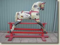 typical 60s roebuck rocking horse