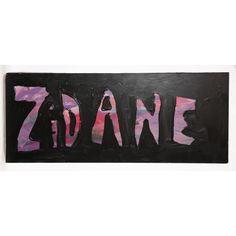 "Victor Guti  ""Zazou"" Acrylic on wood 30 x 60 cm 2015"