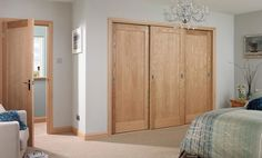 Choose doors to match anywhere in a home or business with our advice guide. All doors and fittings available at local depots. Oak Wardrobe, Bedroom Wardrobe, Bedroom Doors, Built In Wardrobe, Master Bedroom, Wardrobe Ideas, Wood Closet Doors, Sliding Wardrobe Doors, Oak Doors