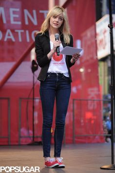 Emma Stone and Olivia Wilde Get Up Early For a Good Cause